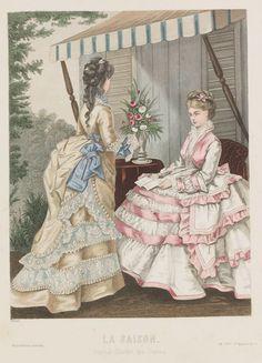 1870s Fashion, Europe Fashion, Fashion History, Victorian Fashion, Vintage Fashion, Historical Costume, Historical Clothing, Decades Costumes, Victorian Era Dresses
