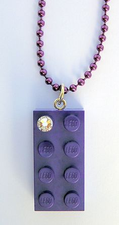 Purple LEGO R brick 2x4 with a Diamond color by MademoiselleAlma, $14.99 #LEGO