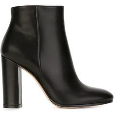 Gianvito Rossi Razor Ankle Boots (3.155 RON) ❤ liked on Polyvore featuring shoes, boots, ankle booties, black, ankle boots, chunky black booties, black leather bootie, black booties and black high heel boots