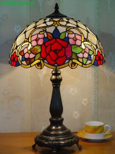 Rose Tiffany Lamp 16S0-191T615