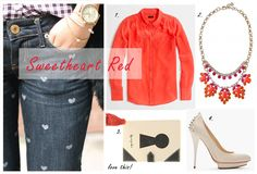 What to Wear With  Your Heart Print Jean