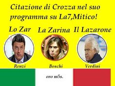 il popolo del blog,notizie,attualità,fatti e fatterelli: Lo zar, la zarina e il lazarone (Renzi, Boschi e V...