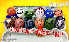 Doctor Who Adventures magazine are getting ready for Easter with their super-scary Monster Eggs!  We want you to have a crack at making your own and uploading your pic here before Easter Sunday (31st March). After Easter we'll then put up a gallery of our favs and you can vote for which is you think is the most eggggggggscellent!
