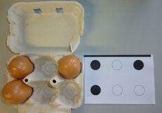 Opdrachtkaarten vul de eierdozen