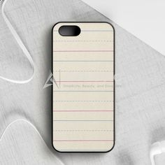 Lined Paper Texture iPhone 5 5S SE Case   armeyla.com