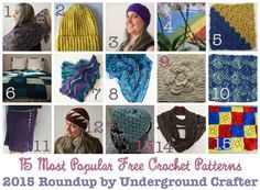 15 Most Popular Free #Crochet Patterns of 2015, #Roundup by Underground Crafter