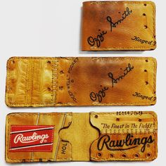 77351517319 Repurposed Baseball Glove Wallet by Salt River Leather on Etsy Leather  Wallet Pattern