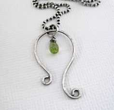 LEO - Astrological Symbol for Leo - August Birthday - Genuine Peridot - Sterling Silver - Patricia Ann Jewelry Designs on Etsy, $39.50