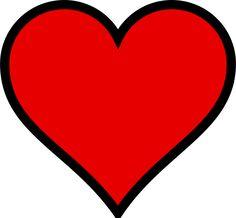 PublicDomainVectors.org-Ilustração em vetor de um coração. Desenho de coração, símbolo do amor de vermelho. Imagem do coração em fundo branco.