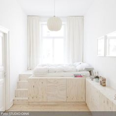 Best Bedroom Storage For Small Rooms – My Life Spot Cozy Bedroom, Bedroom Storage, Bedroom Apartment, Home Decor Bedroom, Apartment Therapy, Bedroom Ideas, Bed Ideas, White Bedroom, Apartment Ideas