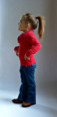 BIMAA Sweater - PDF Sewing Pattern Cowl Neck or Shawl Collar Long Sleeved Top Shirt Girls Boys Toddler Children 12mo - 5t Instant Download; $8.95; super cute.