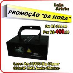 PROMOÇÃO! Laser Azul B500 Big Dipper 500mW DMX Áudio-Rítmico: De R$ 689,90 Por R$ 459 em http://www.aririu.com.br/laser-azul-b500-big-dipper-500mw-dmx-audioritmico-bivolt_76xJM