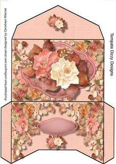 Gift Wallet Autumnal Roses on Craftsuprint designed by Ceredwyn Macrae - A…