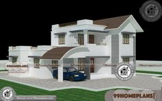 Small Contemporary Home Designs Double Floor Home Design House Plans With Pictures, House Design Pictures, Home Design Plans, Home Interior Design, Exterior Design, Beautiful Small Homes, Beautiful House Plans, Indian Home Design, Kerala House Design