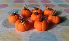 Kawaii Halloween Harvest Pumpkin Polymer Clay by StarfallsAtDusk