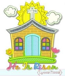 Little Church Applique - 3 Sizes!   Easter   Machine Embroidery Designs   SWAKembroidery.com Lynnie Pinnie