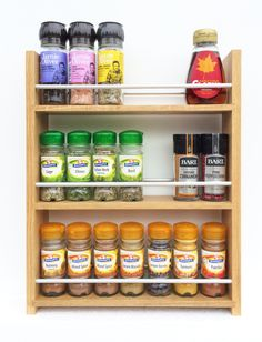 Organic Spice Rack Spice Rack Magnetic Spice Jars New Home Gift For Her For Him