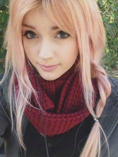 pastel pink hair with a twist Leda Muir #ledamonsterbunny