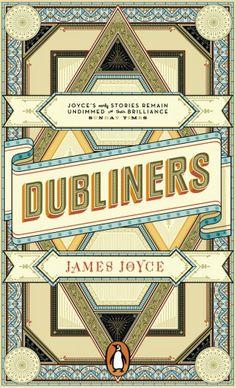 The Dubliners by James Joyce; artworkApfel Zet(Penguin April 2012) // triangles on books