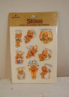 Vintage Cute Teddy Bear Stickers Hallmark 1981 NEW still sealed. $3.99, via Etsy. I had these and I liked the sailor one most.