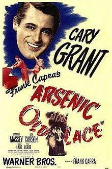 Arsenic and Old Lace // Directed by	Frank Capra  Produced by	Frank Capra  Jack L. Warner  Screenplay by	Julius J. Epstein  Philip G. Epstein  Based on	The play by  Joseph Kesselring  Starring	Cary Grant  Josephine Hull  Jean Adair  Raymond Massey  Release date(s)	September 23, 1944 (USA)