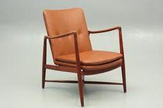 BO59 easy chair in teak and new leather by Finn Juhl, Denmark