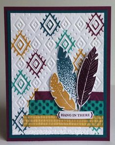 Bohemian Feathers by Sweet Irene - Cards and Paper Crafts at Splitcoaststampers