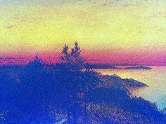 "https://flic.kr/p/zU2FSn | Luigi Speranza -- The Connecticut Shore -- J. F. Kensett, ""Sunset near Darien"" -- oil on board -- 14 x 18 -- ""Kensett and the Connecticut Shore,"" Mattatuck, Waterbury, Connecticut."