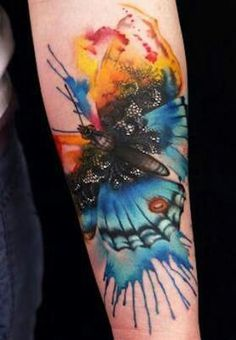 Neat watercolor tattoo