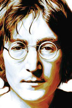 John Lennon Artwork Painting by Sheraz A Beatles Art, John Lennon Beatles, Beatles Photos, The Beatles, Jon Lennon, Arte Pop, Art Pages, Artwork Prints, Pop Art