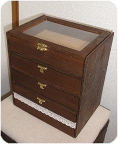 セリアの標本箱とベニヤ板で