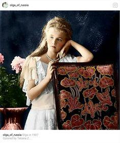 Olga Romanov of Russia. Oldest daughter of the last Tsar of Russia, Nicholas ll.