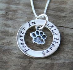 Pet Memorial Jewelry Eternity Circle Necklace for by labelledame, $63.00