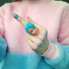 grunge, kawaii, pale, pastel, pastel goth, pastel hair, pink, tumblr