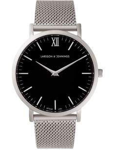 Larsson & Jennings - Matte Silver Chain Metal Watch by Larsson & Jennings
