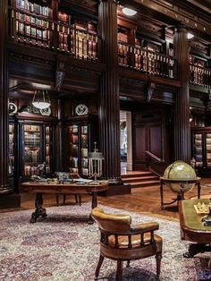 The Harlan Crow Library Dallas Texas is in a wing of Crows mansion. It hold The Harlan Crow Library Dallas Texas is in a wing. Library Room, Dream Library, Beautiful Library, Beautiful Homes, Home Library Design, House Design, Library Ideas, Home Libraries, Decoration Inspiration
