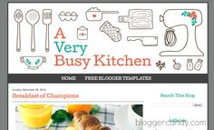 A Very Busy Kitchen - Free Cooking Blogger Design from www.bloggercandy.com