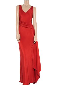 12 Days of Holiday Dresses - Amanda Wakeley Draped Silk Gown