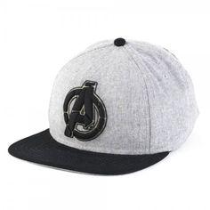 Marvel Avengers Logo Grey Snapback Cap