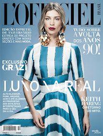 Über Fashion Marketing: Grazi Massafera na capa da edição de aniversário da L'Officiel Brasil de junho/ julho