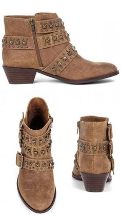 Stud Detail Ankle Booties ♥