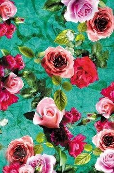 collage, floral, rose