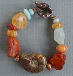 rough stones and fossils.  Not sure I would ever want to take it off.