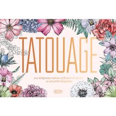 Tatouage: Blossom – 102 Temporary Tattoos of Flowers & Plants, 21 Art-Print Keepsakes