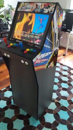 Retro Arcade Games, Retropie Arcade, Arcade Bartop, Mame Cabinet, Diy Arcade Cabinet, Arcade Game Room, Video Game Decor, Geek Room, Arcade Machine