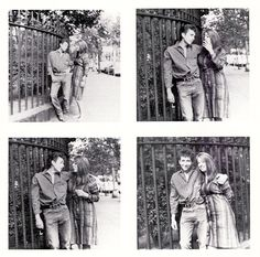 by Barry Feinstein:   Bob Dylan and Suze Rotolo.  1963 Gramercy Park,