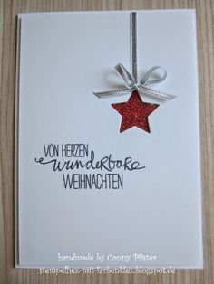 tarjetas de credito credit cards Stempelhex-with-Farbenklex - Karten amp; Homemade Christmas Cards, Christmas Mom, Easy Christmas Crafts, Stampin Up Christmas, Christmas Cards To Make, Simple Christmas, Handmade Christmas, Karten Diy, Star Cards