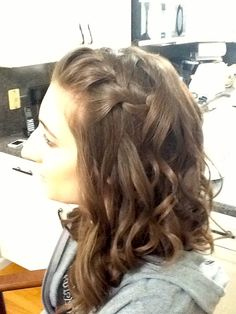 #Formal braided #hairstyle for #bridesmaids by Hair Trendz Stylist Gina