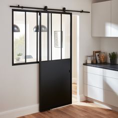 This sliding door system helps save space whilst adding a contemporary look to your home. Sliding door track system by Sliding Door Track, Sliding Wardrobe Doors, Sliding Doors, Home Renovation, Home Remodeling, Indoor Canopy, Diy Barn Door Plans, Küchen Design, House Design