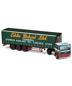 1:50 Scale Corgi Volvo F10 with Tri-Axle Curtainside Trailer